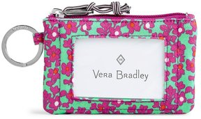 Vera Bradley Lighten Up Zip ID Case - FLORAL DITSY DOT COMBO - STYLE