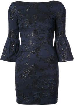 Aidan Mattox floral-jacquard dress