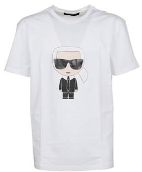 Karl Lagerfeld Men's 57220310 White Cotton T-shirt.