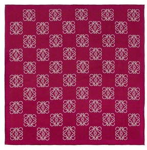 Loewe 90X90 Anagram All Over Scarf Fuchsia