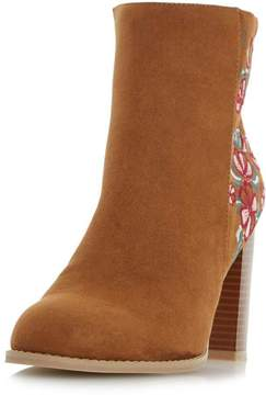 Head Over Heels *Head Over Heels By Dune Tan Paradisea Ladies Ankle Boots