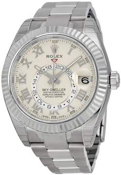 Rolex Sky Dweller Ivory Dial 18K White Gold Oyster Bracelet Automatic Men's Watch