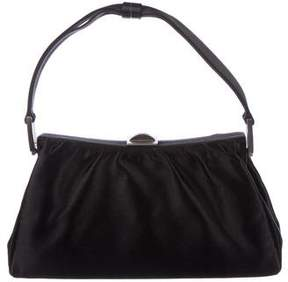 Giorgio Armani Ruched-Accented Satin Handle Bag