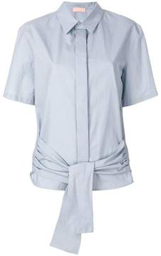 Drome short-sleeve belt shirt