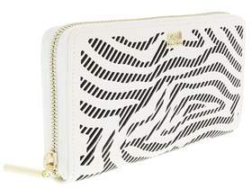 Roberto Cavalli Long Size Wlt W/zipper Audrey White/black Wallet.