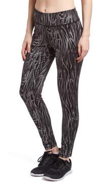 ABS by Allen Schwartz Black & Silver Shimmer Stripe Leggings - Women
