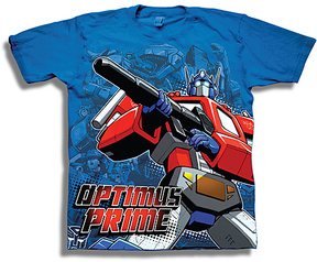 Freeze Transformers Royal Blue Optimus Prime Tee - Boys