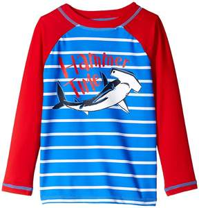 Hatley Hammerhead Shark Long Sleeve Rashguard Boy's Swimwear