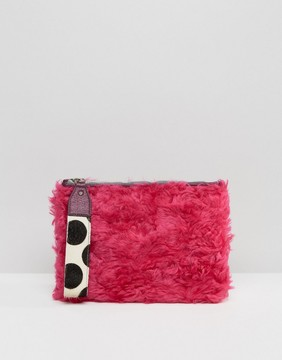 House of Holland House Of Holland Faux Fur Clutch Bag