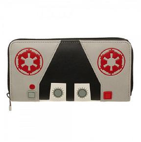 Black & Red Galactic Empire Zip Wallet