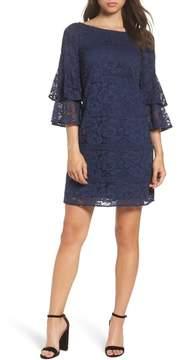 Eliza J Tiered Sleeve Lace Shift Dress