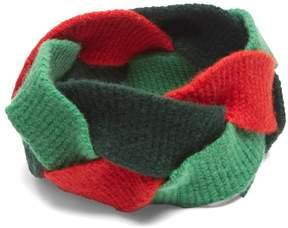 GUCCI Braided wool-blend headband