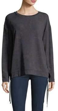 Neiman Marcus Majestic Paris for Camo Lace-Up Side Sweatshirt