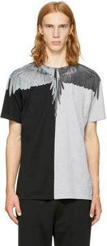 Marcelo Burlon County of Milan Grey and Black Asher T-Shirt