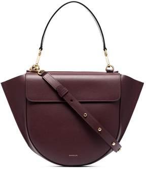 Hortensia Wandler Burgundy Medium Leather Cross-Body Bag