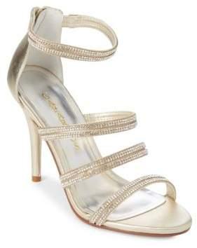 Caparros Immense Embellished Leather Dress Sandals
