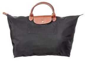 Longchamp Le Pliage Large Nylon Travel Bag. - BLACK - STYLE