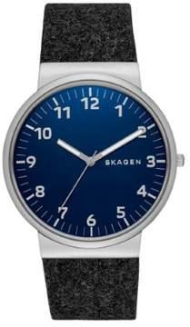 Skagen Ancher SKW6232 Black/Blue Analog Quartz Men's Watch