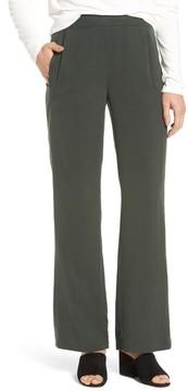 Eileen Fisher Women's Woven Tencel Straight Leg Pants