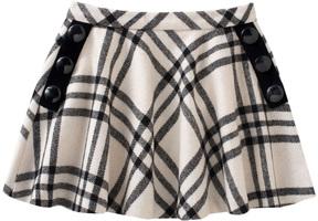 Kate Spade Button Plaid Skirt