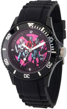 Marvel Guardian Of The Galaxy Mens Black Strap Watch-Wma000107