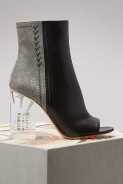 Maison Margiela Plexi Heel Leather Ankle Boots
