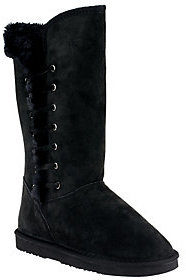 Lamo As Is Suede Tall Shaft Boots w/ Faux Fur - Robyn