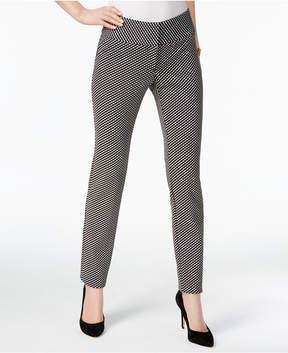 Alfani Jacquard Straight-Leg Pants, Created for Macy's