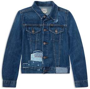 Polo Ralph Lauren Girls' Patchwork Denim Jacket - Big Kid