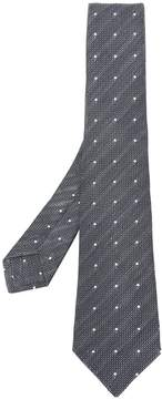 Kiton polka dot embroidered tie