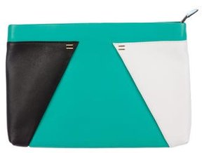 Roland Mouret Colorblock Leather Clutch