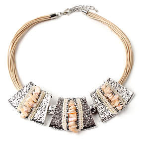 Amrita Singh Silvertone Behrouz Necklace