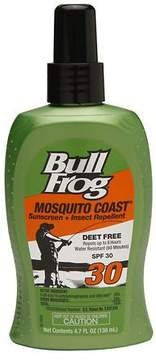 Bull Frog Mosquito Coast, Sunscreen with Insect Repellent, SPF 30