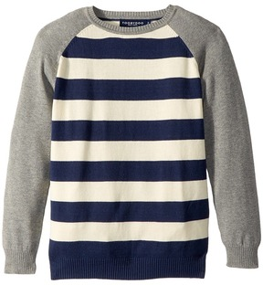 Toobydoo Rugby Stripe Baseball Sweater Boy's Sweater