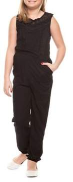 Dex Girl's Lace-Trim Jumpsuit