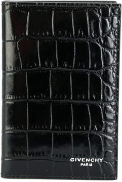 Givenchy crocodile embossed billfold wallet
