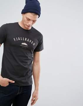 Fjallraven Trekking Logo T-Shirt in Navy