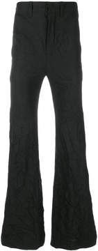 Ann Demeulemeester Icon crinkle design flared trousers