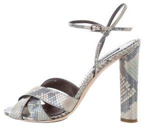 Marc Jacobs Snakeskin Crossover Sandals