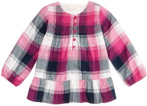 First Impressions Cotton Plaid Flannel Tunic, Baby Girls (0-24 months), Created for Macy's