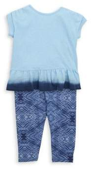 Splendid Baby Girl's Two-Piece Dip Dye Tee& Leggings Set