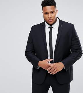 Farah Smart PLUS Skinny Suit Jacket In Black