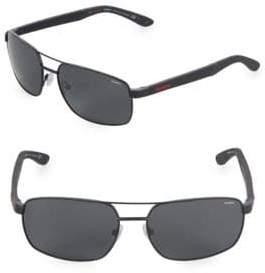 Carrera 59MM Rectangle Sunglasses