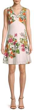 Donna Ricco Women's Floral Sleeveless Dress