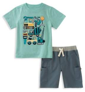 Kids Headquarters Little Boy's Two-Piece Graphic Tee and Shorts Set