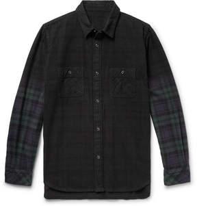 Sacai Checked Cotton-Flannel Shirt