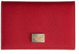 Dolce & Gabbana Leather Card Case. - RED - STYLE