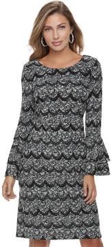 Elle Women's ElleTM Tiered Scallop Dress