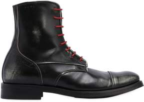 Alexander Hotto Lace-Up Vintage Leather Combat Boots