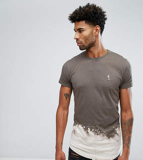 Religion TALL T-Shirt With Bleach Curved Hem